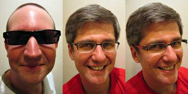 Sonnenbrille, Fernbrille und Nahbrille